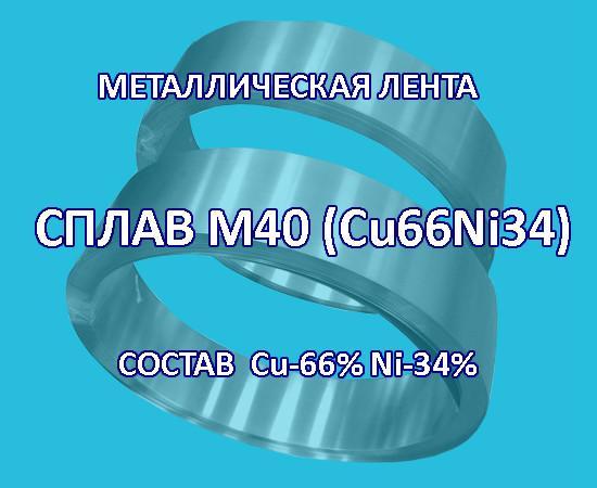 Металлическая лента, сплав медь 66% никель 34%