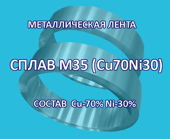 Металлическая лента, сплав медь 70% никель 30%