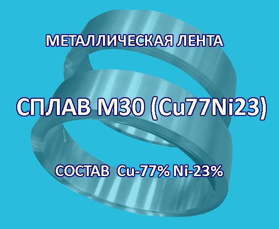 Металлическая лента, сплав медь 77% никель 23%