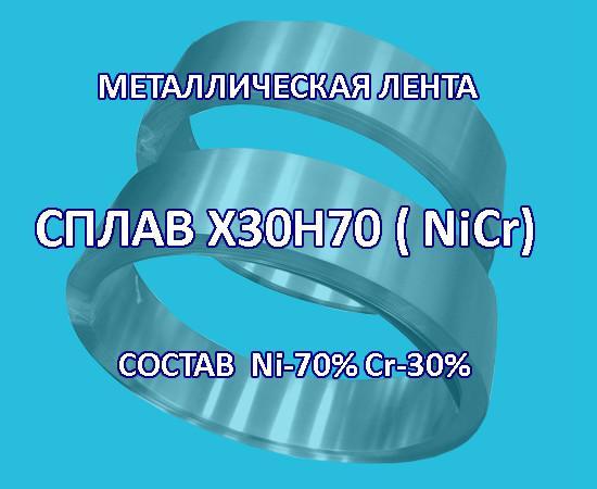 Металлическая лента, сплав никель 70% хром 30%